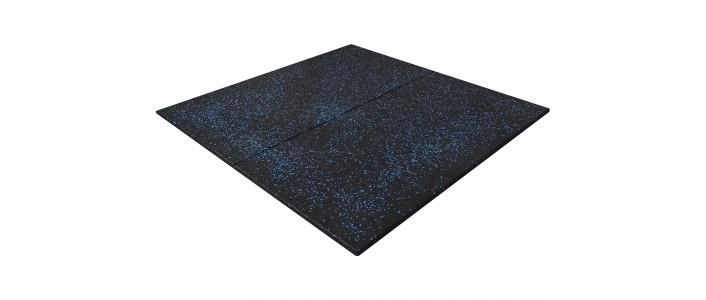 BLUE FLECK RUBBER FLOORING TILE